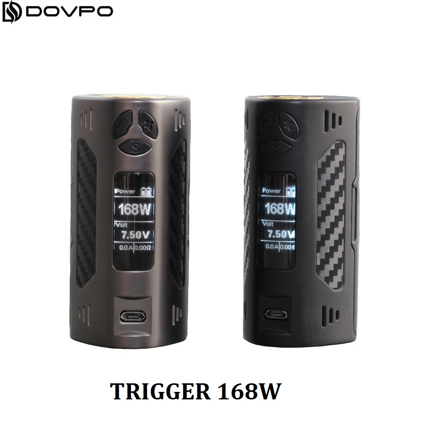 100% ORIGINAL DOVPO TRIGGER E Cigarette VAPE Kit 168W esay use TC Mod Box for RDA RTA RATA tank VS Reuleaux RX200S