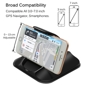 Image 5 - Phone Car Holder For Dashboard Strong Sticky 3M Car Mount Bracket For 3 7 Inch iPhone Samsung GPS Non Slip Reusable Gel Pads Mat