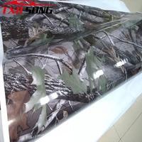 5/10/15/20/25/30X1.52m Digital Printing Tree Leaf Camouflage Vinyl Car Sticker Truck Vehicle Car Styling Real tree Camo Vinyl