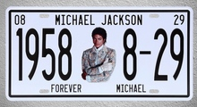 1 pc Michael Jackson singer US car license plaques Tin Plates Signs garage wall man cave Decoration Metal Art Vintage Poster