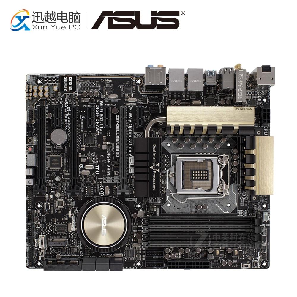 Asus Z97-DELUXE-USB3.1 Desktop Motherboard Z97 Socket LGA 1150 i7 i5 i3 DDR3 64G SATA3 ATX original motherboard for asus z97 deluxe lga 1150 ddr3 usb3 0 i3 i5 i7 cpu 32gb z97 desktop motherboard free shipping
