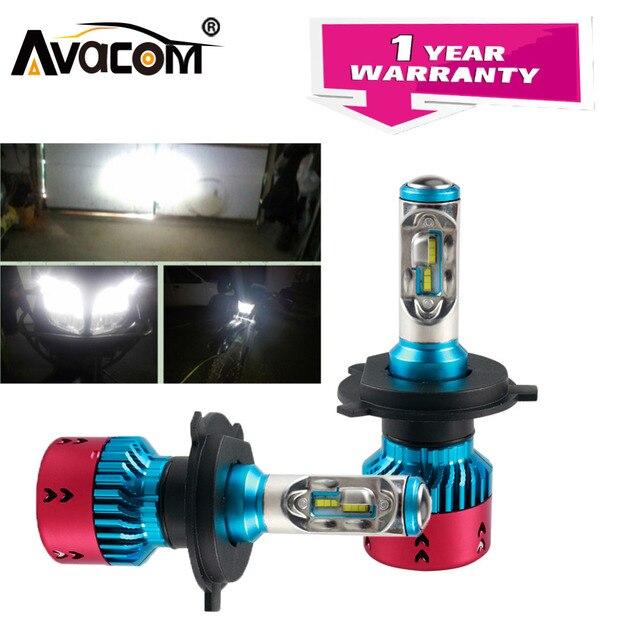 Avacom Super Bright H4 HS1 Motorcycle Headlight Lamp 12V 6500K 16000Lm 70W H7 H1 H11 LED Motorbike Fog Light Phare LED Moto