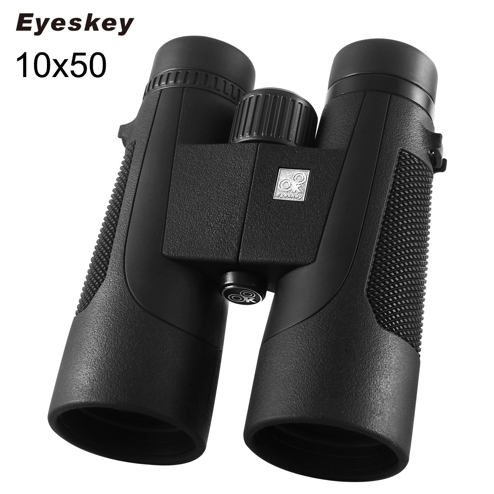 10X50 Binoculars Eyeskey Professional Hunting Binocular Waterproof Telescope Bak4 Prism Optics Camping Hunting Scopes sika hd10x50 binoculars professional compact telescope bak4 for birdwatching travel stargazing hunting camping m0054