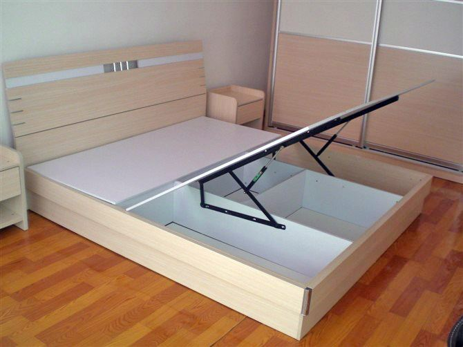 buy high bed box with air support platform tatami bed frame support bed hydraulic rod bed box gas strut lifters from reliable bed linen - Tatami Bed