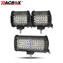 4 inch 7 inch 4 Row Offroad LED Work Light Spot Beam Spotlight for Jeep UAZ SUV ATV 4x4 Car Tractor Truck 12V 24V LED Light Bar amber yellow white high power 4x4 car offroad 17 inch 18 inch 252w led light bar work light 12v 24v 24 months warranty