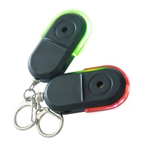 Wireless Anti-Lost Alarm Key Finder Locator Keychain Whistle Sound LED Light Things Tracker Anti-Lost Device for The Elderly Hot lost light