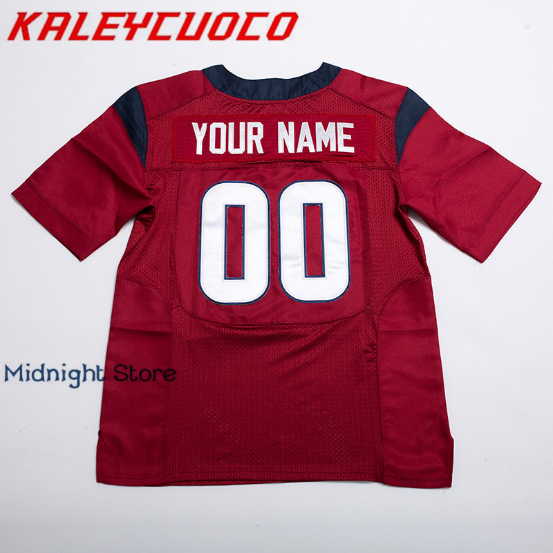 c44074c95 Aliexpress.com   Buy Custom Made Football Jerseys Men Women Youth Stitched  Logos Name Number Jerseys Big Tall Size Color Blue Red White from Reliable  ...