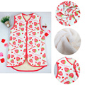 Lovely Children Warm Vest Strawberry Print Kids Coral Fleece Vest Sleeveless Winter Warm Flannel Coat Outwear Kid Thick Vest 187