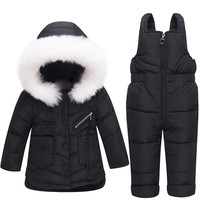 ZTOV Baby Girl Winter Coats Clothes Sets Hooded Kids Down Jacket Overalls Jumpsuits Snow Wear Children Boys Clothing 1 2 3 Years