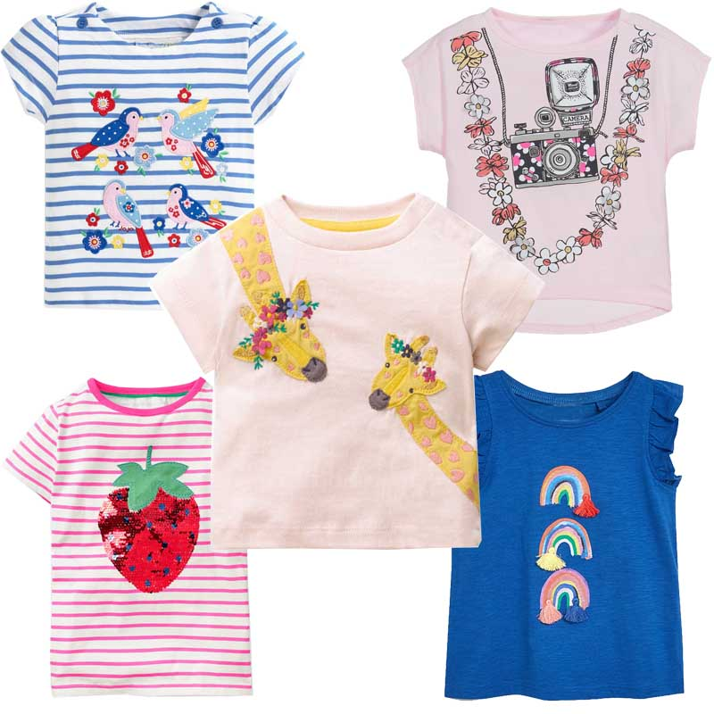 Girls Tops Summer 2019 Cute Kids Tshirt Baby Girl Clothes T-shirts Unicorn Animal Print Children T Shirts For Girls Clothing(China)