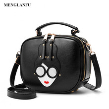 Women party clutch handbag ladies leather pu Small Crossbody bags Female Designer Cute Shoulder Bags cartoon handbags for women