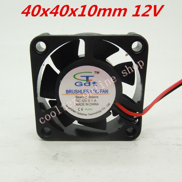 3pcs/lot 40x40x10mm 4010 <font><b>fans</b></font> 12 Volt Brushless DC <font><b>Fans</b></font> for heatsink cooler cooling radiator Free Shipping