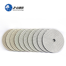 Z-LION 10pcs 4 Inch Wet Diamond Polishing Pad For Granite Marble Concrete Angle Grinder Granite Polishing Tool Abrasive Wheel