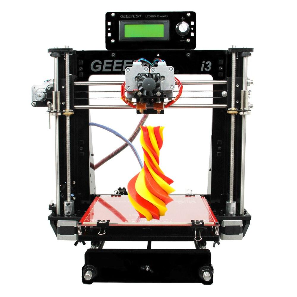 Geeetech imprimante 3d I3 Pro C 2in1 imprimante mixte MK8 extrudeuses de qualité supérieure haute précision Reprap Prusa bricolage Kits d'impression