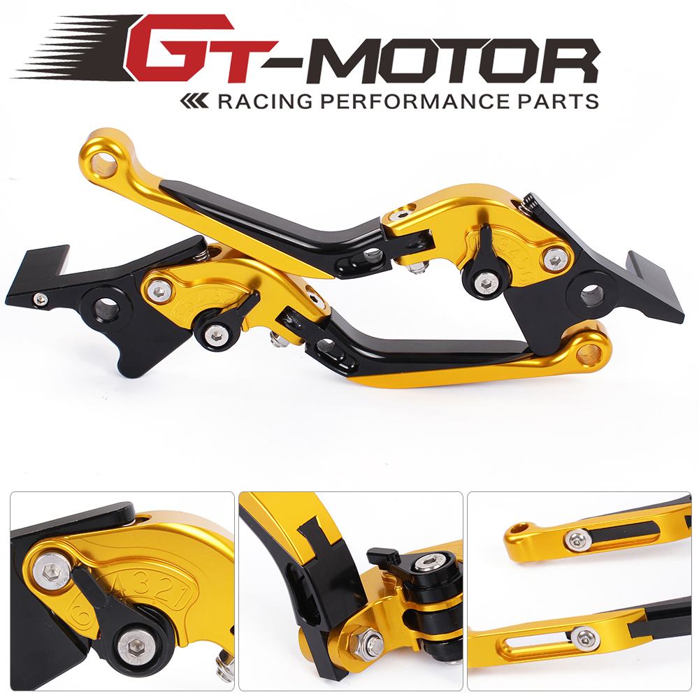 GT Motor - F-23/C-23 Adjustable CNC 3D Extendable Folding Brake Clutch Levers For MOTO GUZZI  AUDACE	2015-2017  ELDORADO 15-17 gt motor f 16 dc 80 adjustable cnc 3d extendable folding brake clutch levers for moto guzzi breva 1100 norge 1200 gt8v