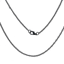 DoreenBeads Iron Based Alloy Jewelry Link Cable Chain Necklace Black Jewelry Findings 62cm(24 3/8″) long,12 Pieces