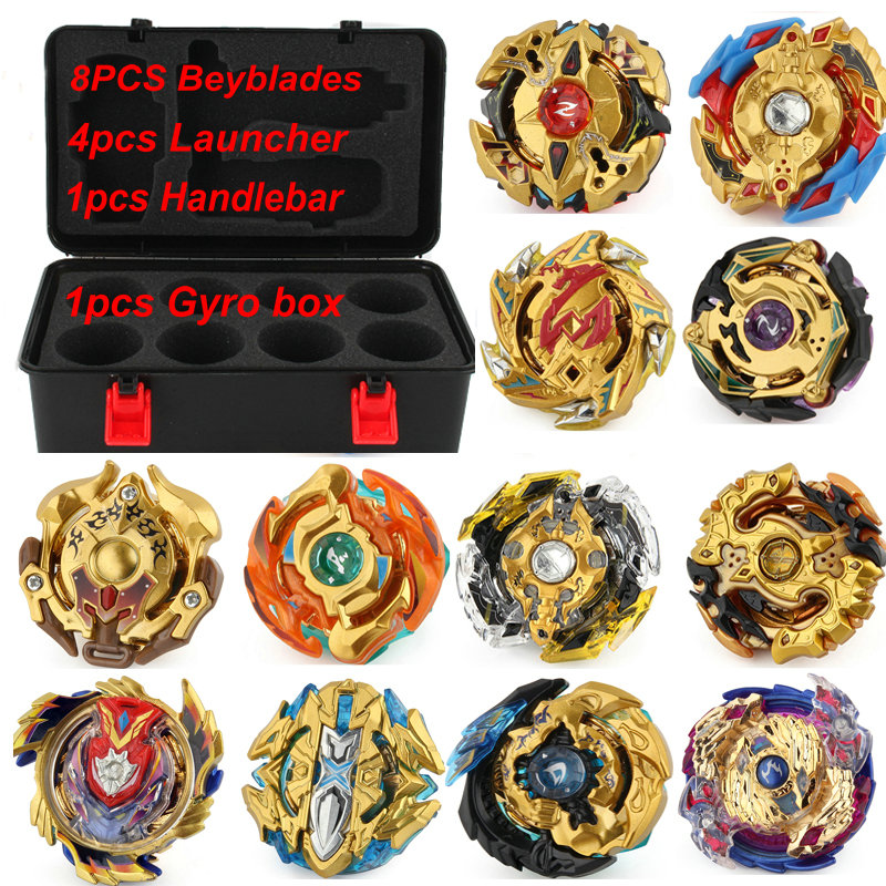 Gold Series   Burst Toys With Launcher Starter and Arena  Metal Fusion God Spinning Top   Toys beyblade set