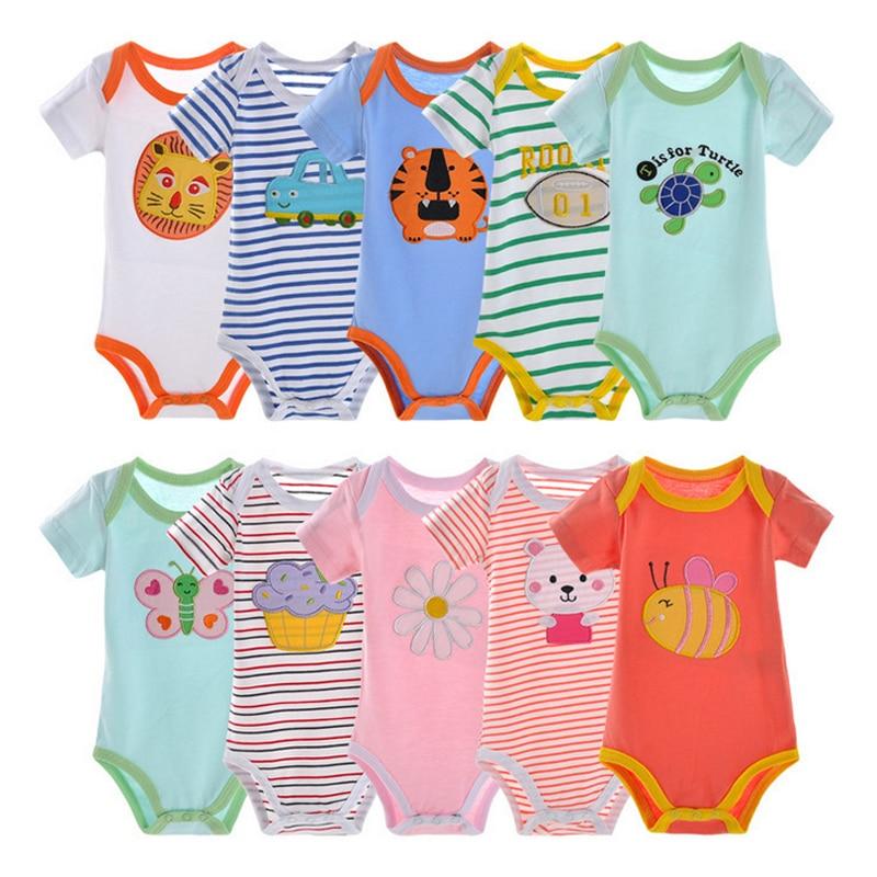 5ks / lot BABY BODYSUITS 100% Bavlna pro dívky Dívčí oblečení - Oblečení pro miminka