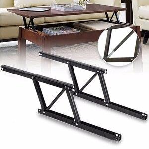 Image 1 - 1 זוג להרים את מנגנון שולחן קפה שולחן ריהוט חומרת Fiftting שימוש עבור שולחן ארון שולחן 38*16.5cm אביב צירים