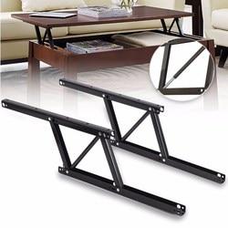 1 para podnieś stolik mechanizm stół sprzęt meblowy Fiftting wykorzystanie do stołu szafka biurko 38*16.5cm zawiasy sprężynowe w Zawiasy do szafek od Majsterkowanie na
