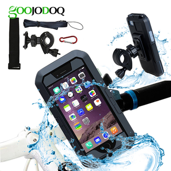 360 Waterproof Bike Mobile Phone Holder Case for iPhone X / 7 / 8 / 7 plus / 8 Plus Bicycle Motorcycle Handlebar Mount Stand