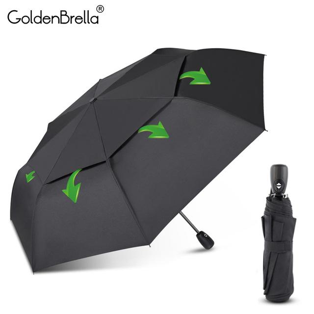Big Wind Resistance Umbrella For Men Quality DoubleLayer Folding Automatic Umbrella Rain Women Travel Compact Umbrella Wholesale