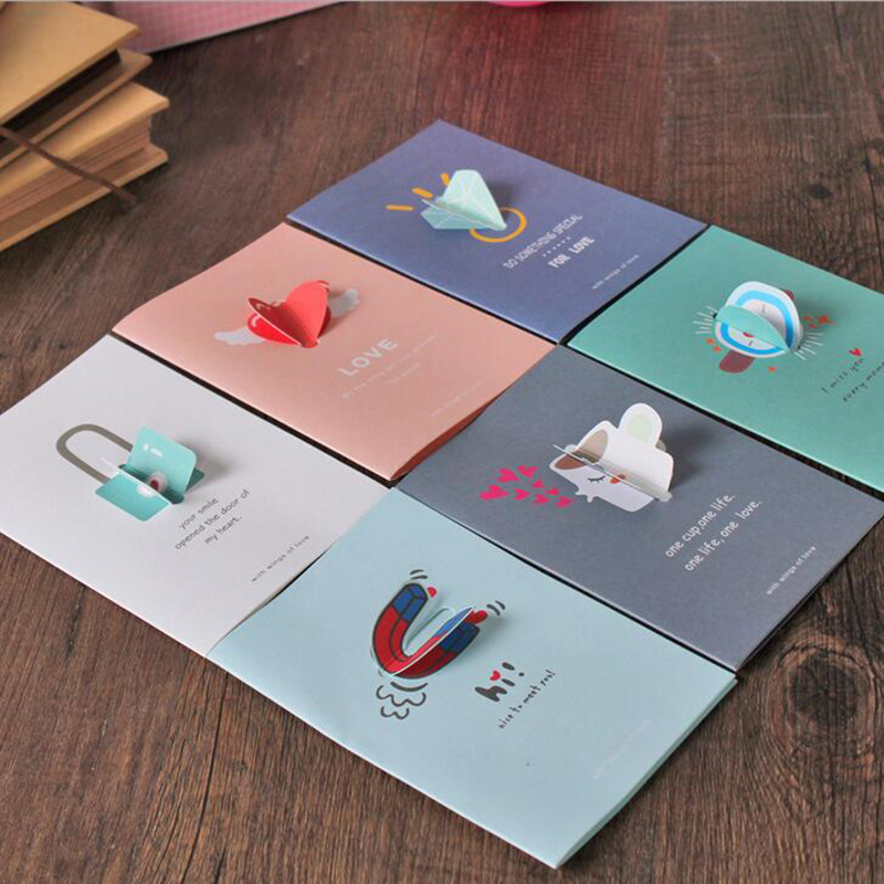 2Sets/lot Love Wings Greeting Card Valentine 's Day Tanabata Love Card Father' s Day Greeting Card Festive Supplies 7z-cx459 2 sets lot