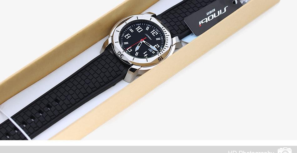 SINOBI Surfing Clock 3Bar Waterproof Watch Mens Sports Wristwatch Designer Branded Chronograph Male Spy Geneva Quartz-watch 007 32