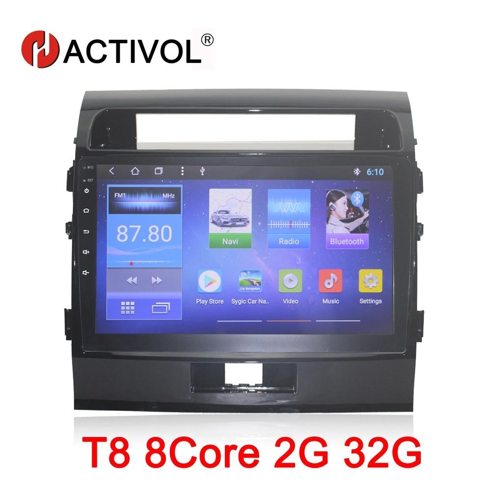 HACTIVOL 10 Octa 8 Core Car radio for Toyota Land Cruiser 200 2008 2012 Android 8.1 car dvd player GPS navi bluetooth wifi