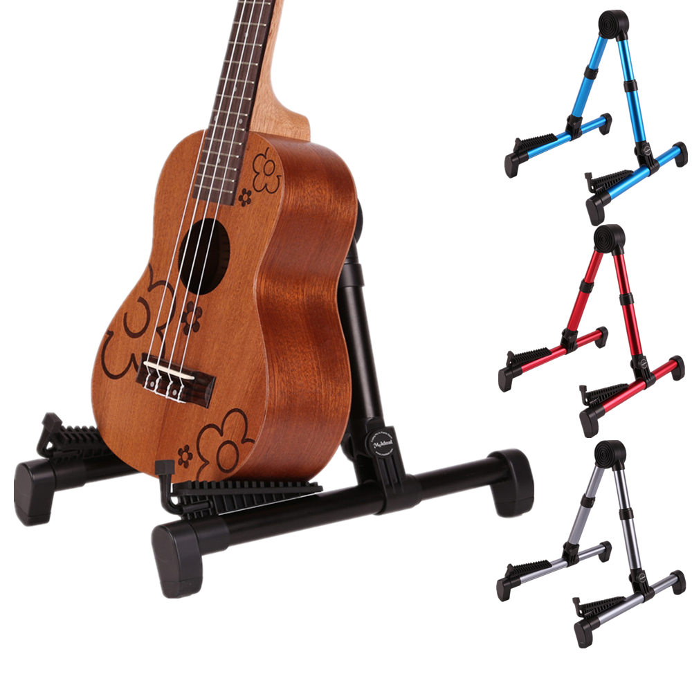 Meideal Universal Foldable A-frame Guitar Stand Holder Stringed Instruments Bracket  for Ukulele / Banjo / Violin / Mandolin aroma ags 03 compact rabbit shape guitar stand a frame holder bracket for all sizes guitar bass stringed instrument accessories