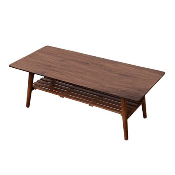 Modern Center Table Leg Foldable Walnut/NaturalRectangle/Oval 100cm Living Room Furniture Wooden Coffee Table With Storage Shelf