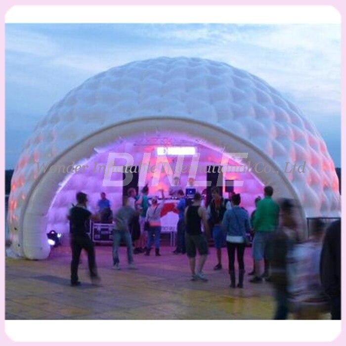 26'x16' impermeable al aire libre gigantes partido tienda de la bóveda inflable con luces led Gran Carpa iglú hinchable alquiler venta