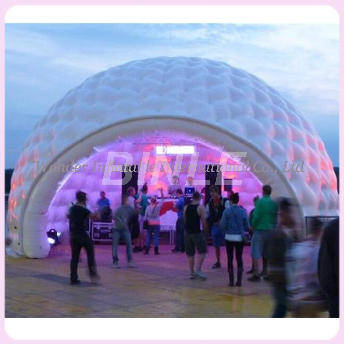 26 x16 outdoor waterproof giant party inflatable dome tent with led lights large inflatable igloo tent