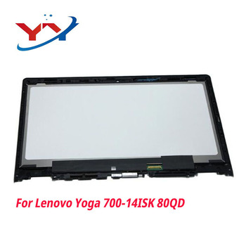 """14.0"""" laptop lcd display replacment For Lenovo Yoga 700-14ISK 80QD Touch Digitizer Assembly Free shipping"""