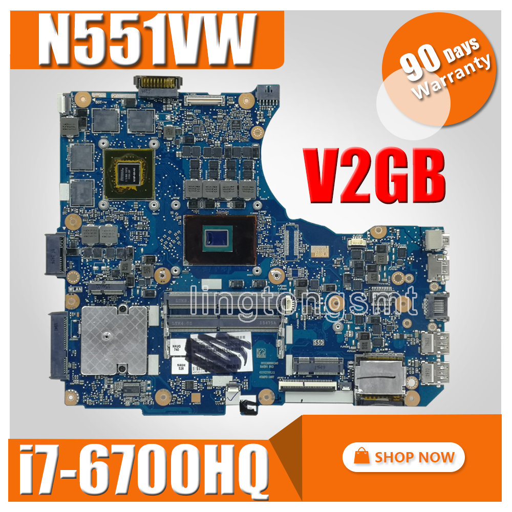 N551VW motherboard I7-6700HQ For <font><b>ASUS</b></font> <font><b>N551V</b></font> G551V FX551V G551VW FX51VW laptop motherboard N551VW mainboard N551VW motherboard image
