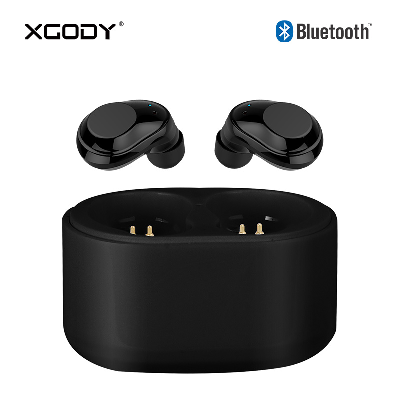 XGODY X6 TWS Mini Wireless Earphones Bluetooth V4.2 Eearpods with Mic Hands Free Calling Stereo HiFi Sound Earpieces for iPhone