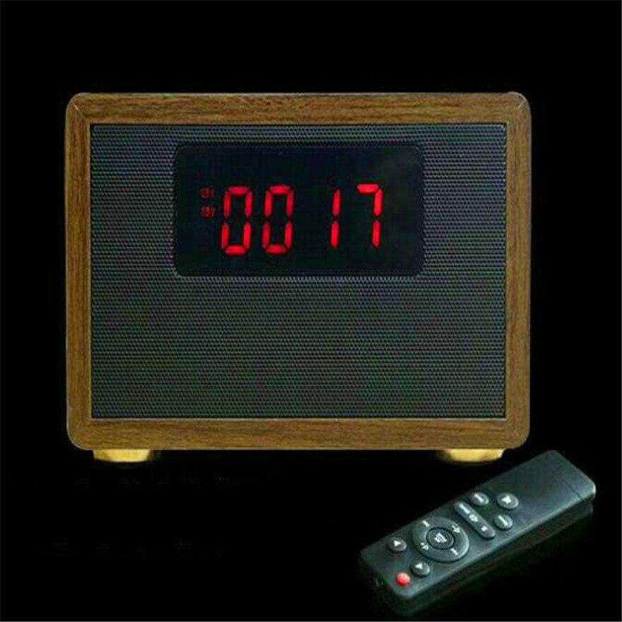Mini Wooden Speakers FM Radio Portable USB Music Box Touch Speaker Boombox Remote Control Sound Bomb 20W High Power