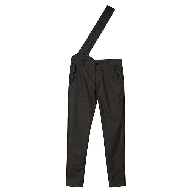 Negro Bib Skinny Pantalones Personalizado Slim Hombres Militar Ropa Piece 2015 Nuevos One Trajes qSwv77
