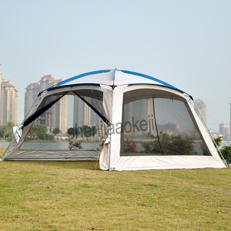 Outdoor Sun-shading Tent Fishing Pergola Camping Self-driving Barbecue Awning Beach Multiplayer Leisure Party Awning Shelter 1PC