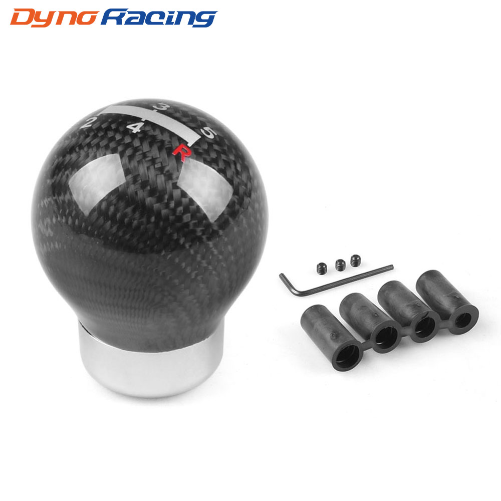 Botão universal de câmbio, verdadeiro, fibra de carbono, 5 velocidades, transmissão manual bx101527