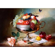 Still Life Oil Wall Art Painting Print on Canvas Fruit & Flower Colorful Artwork for Living Room Decoration Office Wall Canvas claude monet oil painting print on canvas a man was painting on a boat wall art for office living room decoration artwork gift