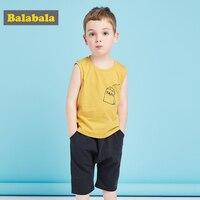Balabala Одежда для мальчиков Наборы для ухода за кожей для детей одежда летняя 100% хлопок Одежда для маленьких мальчиков Наборы для ухода за кож...