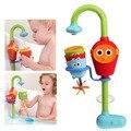 2016 hot multicolor banho do bebê fun toys play automático bico torneiras/sustentada dobrável spray chuveiros torneira play com água