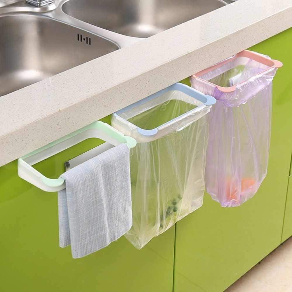 Design prático Para Casa Armário de Cozinha Porta Do Armário Bin Caixa De Armazenamento de Lixo de Lixo Recipiente de Lixo Pendurado Projeto de Volta