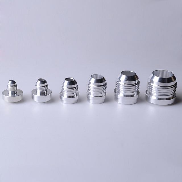 SPEEDWOW Adaptador de montaje de soldadura macho y recto AN4 de aluminio de alta calidad, accesorio de manguera de acero inoxidable