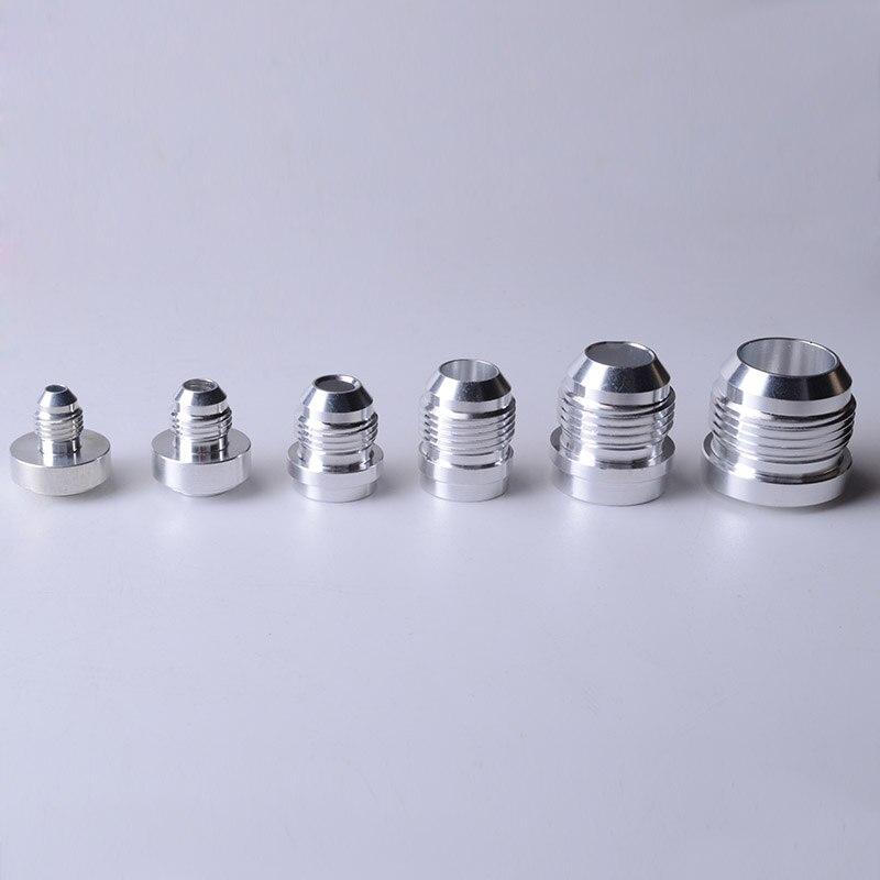 SPEEDWOW Alluminio di Qualità Superiore AN4 6 8 10 12 16-UN Dritto Maschio di Saldatura Raccordo Adattatore di Saldatura Tappo di Azoto tubo di Raccordo Argento
