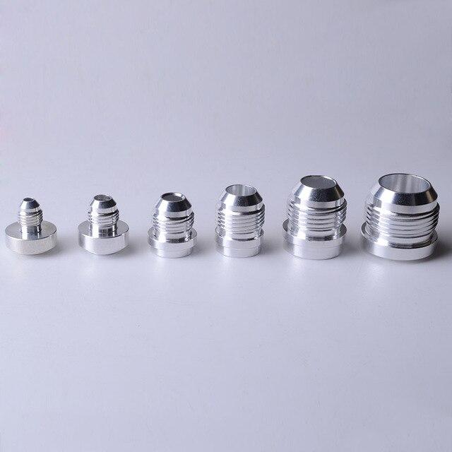 SPEEDWOW Chất Lượng Hàng Đầu Nhôm AN4 6 8 10 12 16 Một Nam Hàn Lắp Adapter Hàn Bung Nitơ vòi Lắp Bạc