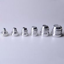 SPEEDWOW Top Quality Aluminum AN4 6 8 10 12 16 AN Straight Male Weld Fitting Adapter Weld Bung Nitrous Hose Fitting Silver