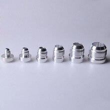 SPEEDWOW en kaliteli alüminyum AN4 6 8 10 12 16 bir düz erkek kaynak montaj adaptörü kaynak Bung azot hortum bağlantısı gümüş