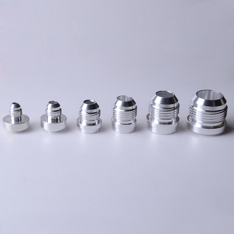 Speedwow 최고 품질의 알루미늄 an4 6 8 10 12 16-an 스트레이트 남성 용접 피팅 어댑터 용접 마개 nitrous 호스 피팅 실버